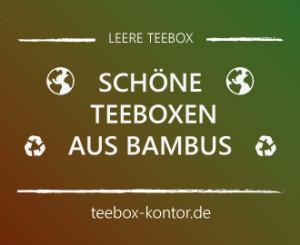 Schöne Teebox aus Bambus von Kesper