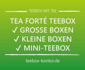 Tea Forte Teebox mit 40 Pyramidenbeuteln