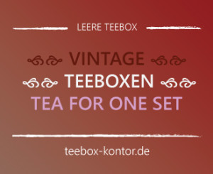 Schöne Vintage Teebox und Tea for one set