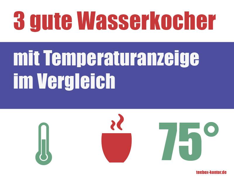 3 Wasserkocher mit Temperaturanzeige im Vergleich