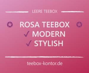 Teebox rosa modern im Vintagestil