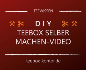 Teebox basteln - DIY Anleitung und Video - Decoupage-Technik auf teebox-kontor.de