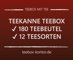 teebox von teekanne mit 180 teebeuteln 4 varianten teebox. Black Bedroom Furniture Sets. Home Design Ideas