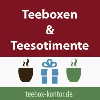 Teeboxen gefüllt mit Inhalt