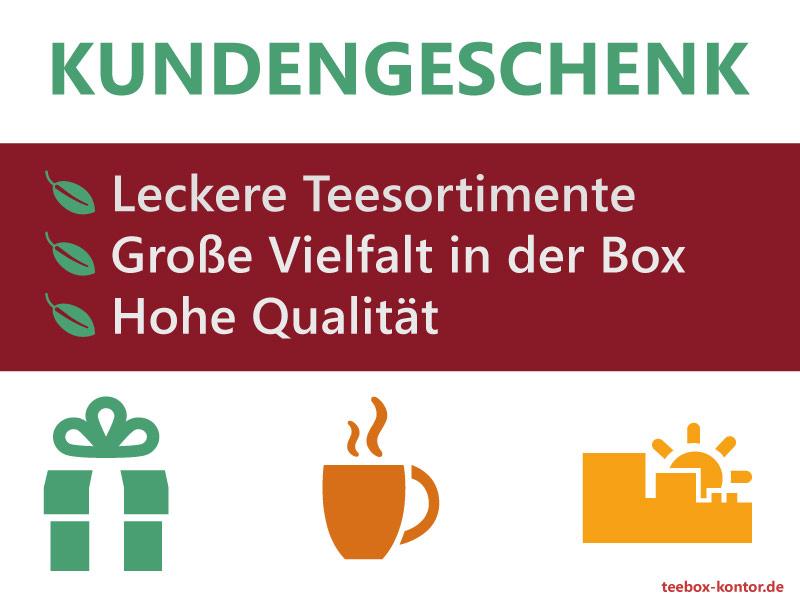 Kundengeschenk kaufen: Teeboxen & Teesortimente