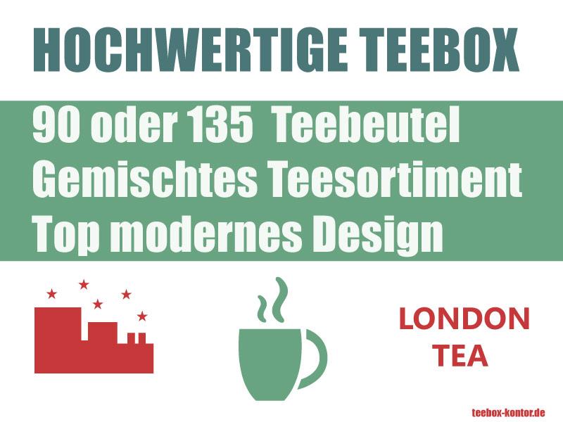Hochwertige Teebox mit Inhalt von The London Tea Company
